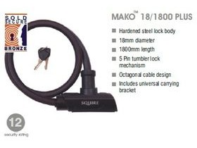 SQUIRE Mako Plus cable lock 18mm x 1800mm
