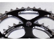 SPA CYCLES TD-2 Double Chainset with Zicral Rings 165mm Black 52/40  click to zoom image