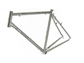 SPA CYCLES Ti Touring Brushed Frame and Forks.