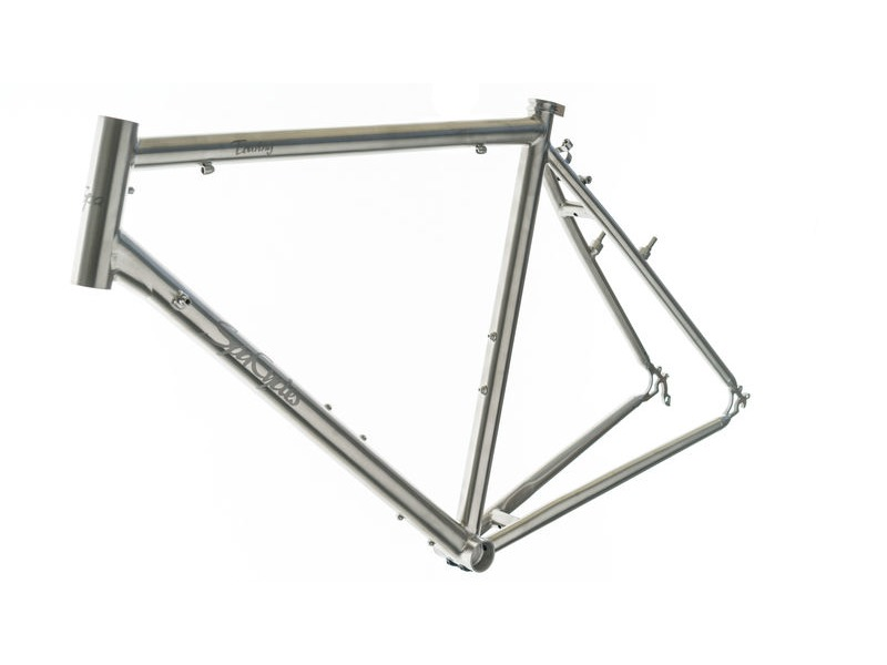 SPA CYCLES Ti Touring Brushed Frame and Forks. click to zoom image
