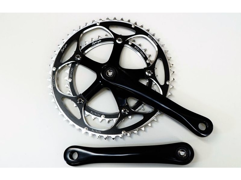 SPA CYCLES RD-2 Double Chainset with Zicral Rings click to zoom image