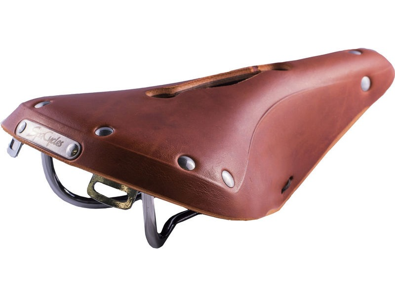 SPA CYCLES Nidd Open Leather Saddle click to zoom image