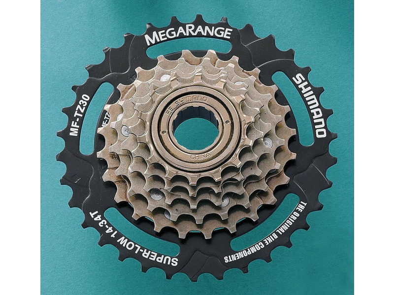 SHIMANO 6 Speed TZ30 Megarange Freewheel click to zoom image