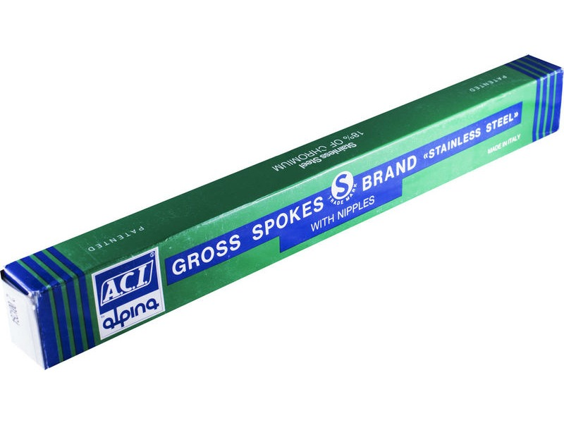ACI SPOKES ACI Stainless Steel Plain Gauge - Green Box click to zoom image